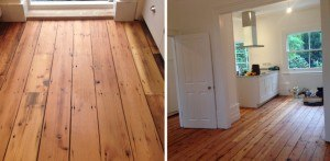 Reclaimed roof board flooring