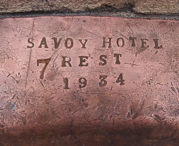 1930s Savoy Hotel Copper Platter
