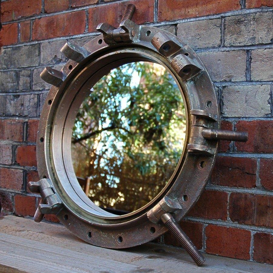 Bronze Marine Porthole Mirror Encore Reclamation