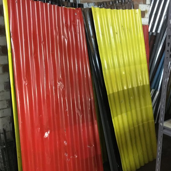 Corrugated iron sheets