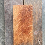 Reclaimed oakstrip sanded section