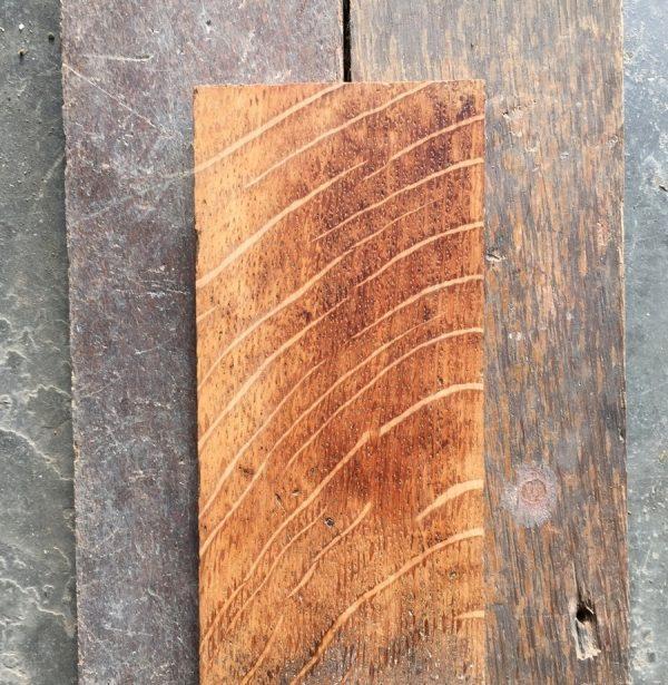 Reclaimed oakstrip sanded section