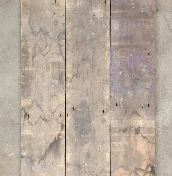 Reclaimed industrial floorboards