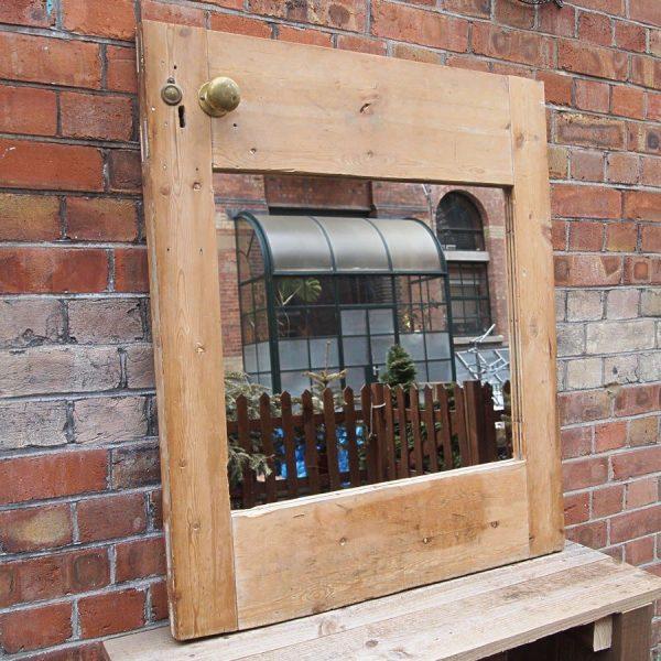 Reclaimed antique door mirror