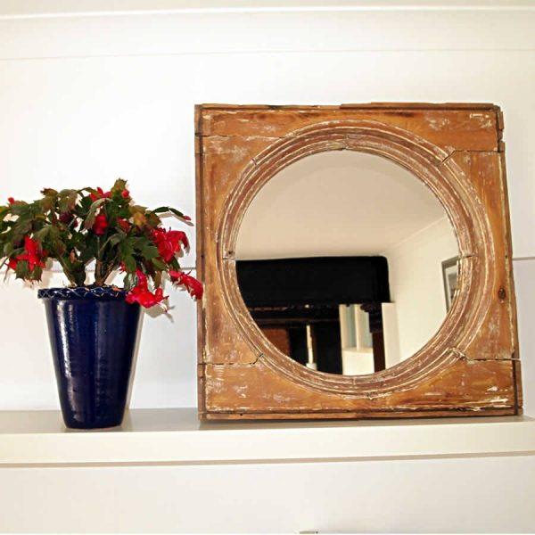 Vintage Bulls Eye Mirror