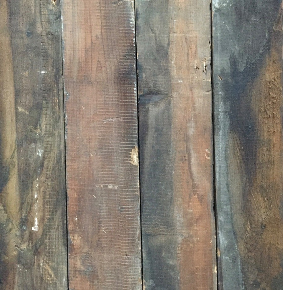 Mixed depth reclaimed wall cladding