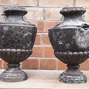 Antique zinc urns