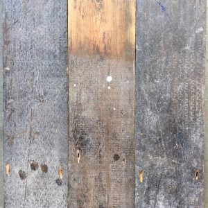 Reclaimed 148mm floorboards.