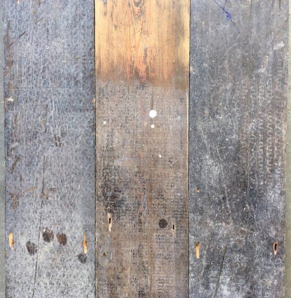 Reclaimed 148mm floorboards.