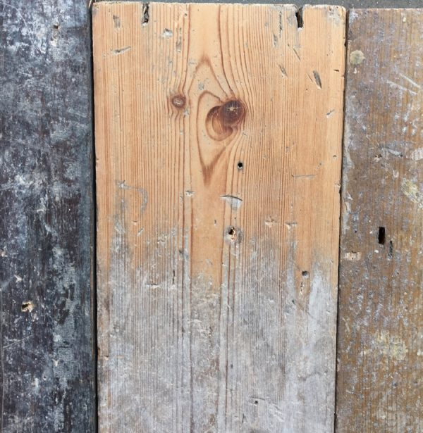Reclaimed 120mm floorboards (lightly sanded section)