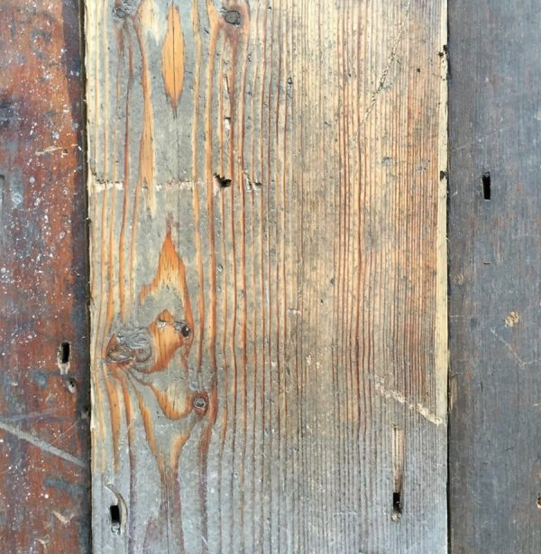 Victorian floorboards (sanded section)