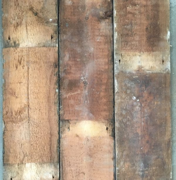 Reclaimed 155mm floorboards (rear of boards)