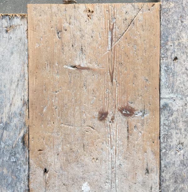 Reclaimed 170mm floorboard (lightly sanded section