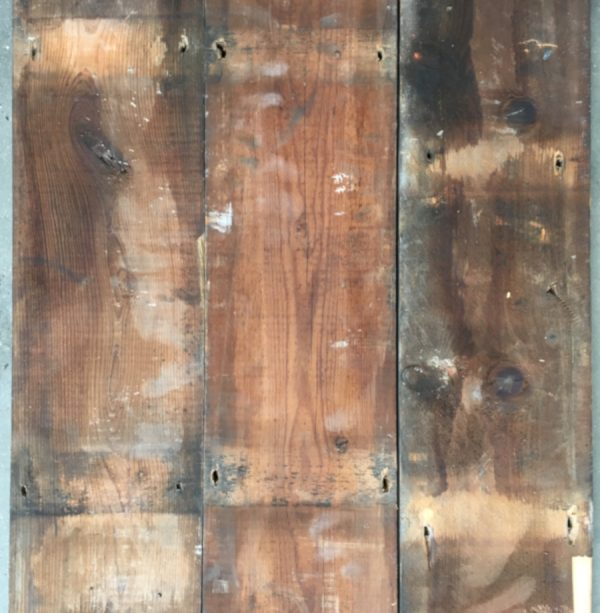 Reclaimed 170mm roofboard (rear of boards)
