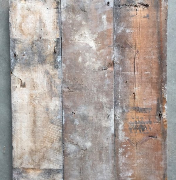 Reclaimed 160mm floorboards (rear of boards)