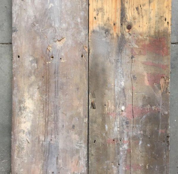 9 5/8 inch reclaimed floorboards.
