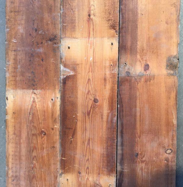 Reclaimed 148mm floorboards (rear of boards)