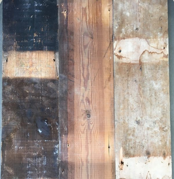 Reclaimed 170mm floorboards (rear of boards)
