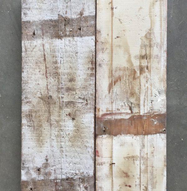 Reclaimed factory boards (rear of boards)