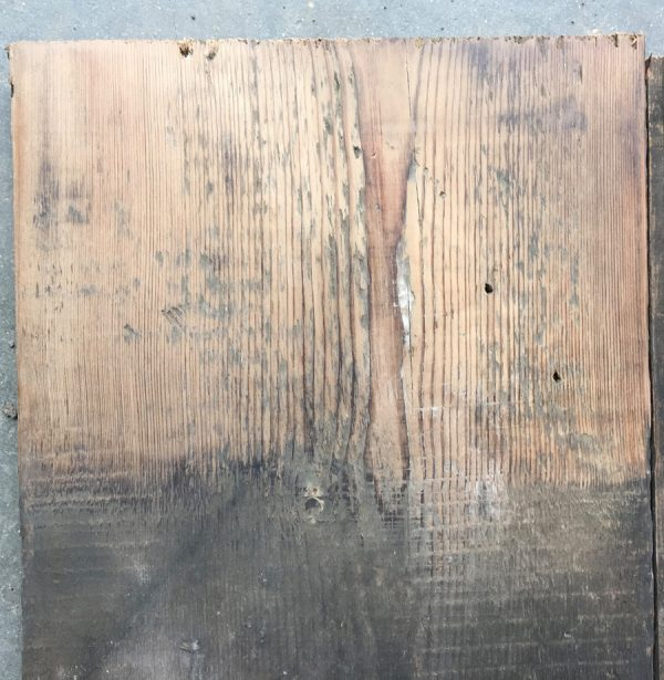 Reclaimed 225mm roof board (lightly sanded section)