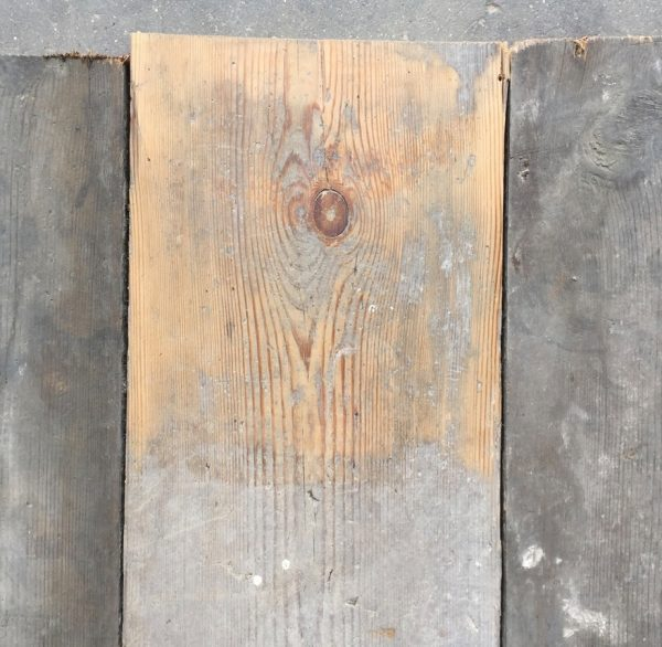Reclaimed 140mm floorboards (lightly sanded section)
