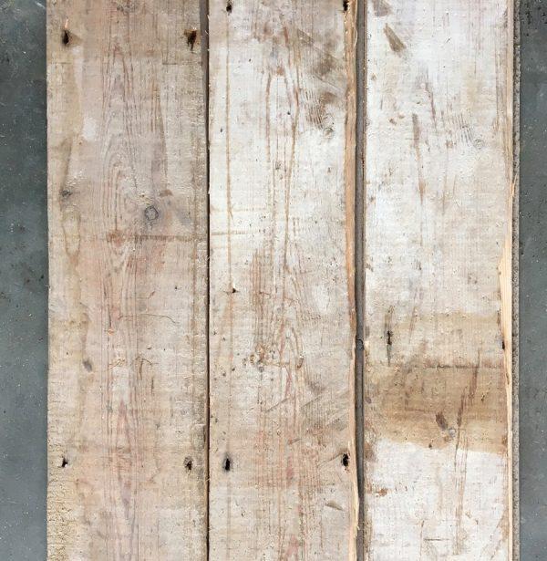 Reclaimed 140mm floorboards (rear of boards)