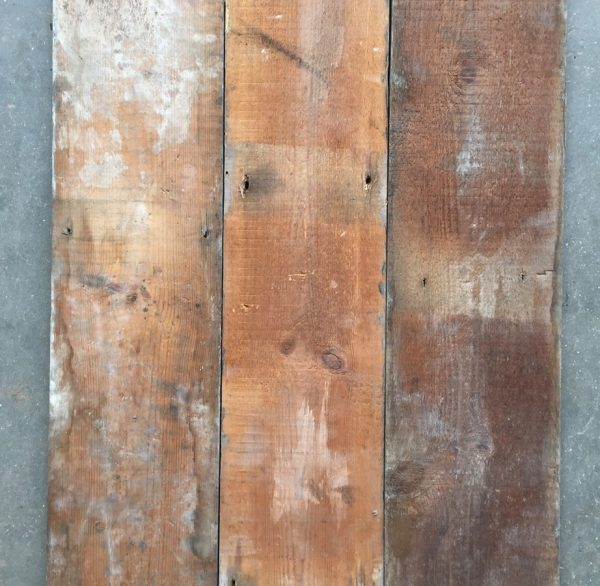 Reclaimed 140mm floorboards (rear of boards)