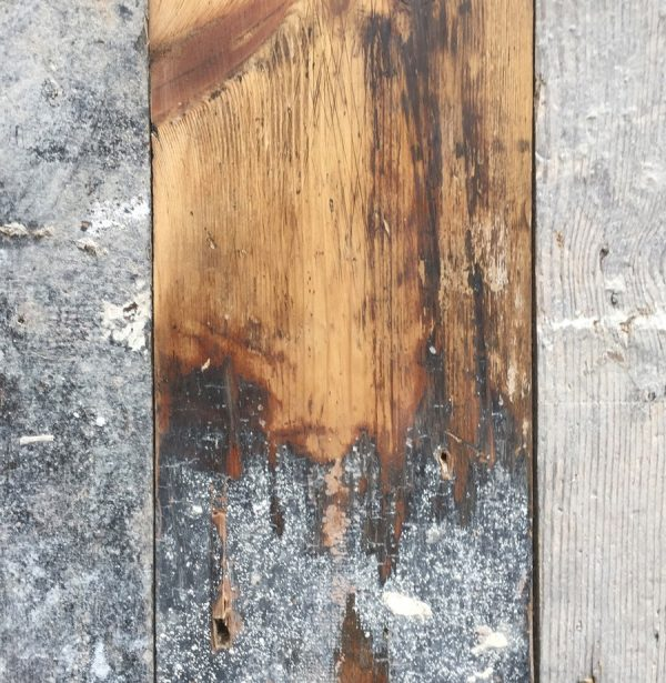Reclaimed floorboards 108mm (lightly sanded section)