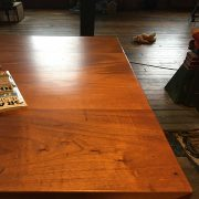 Reclaimed sapele used as countertop