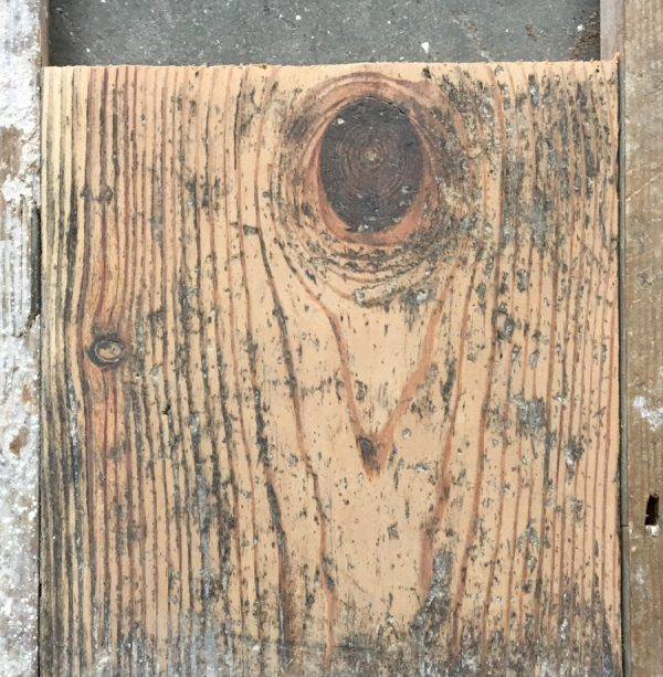 Reclaimed 130mm floorboards (lightly sanded section)