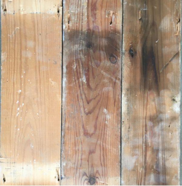 Reclaimed 130mm floorboards (rear of boards)