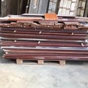 Reclaimed sapele hardwood