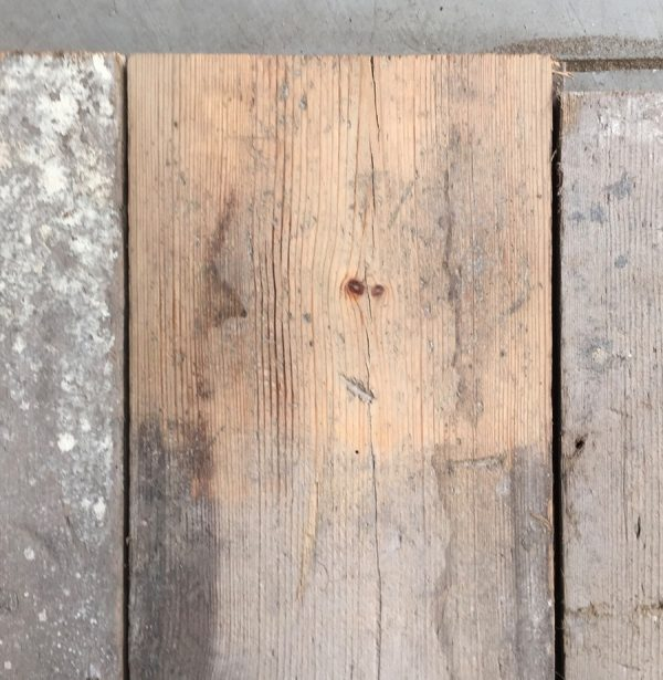 Victorian 165mm floorboards (lightly sanded section)