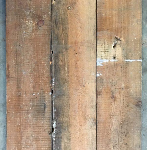 Re-sawn 155mm floorboards (rear of boards)