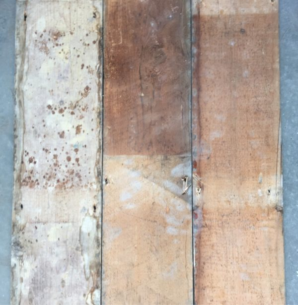 Reclaimed 170mm floorboard (rear of boards)