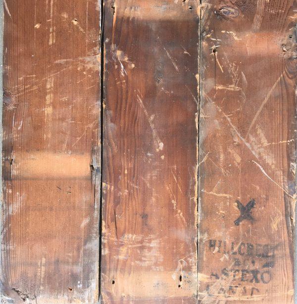 Reclaimed douglas fir 145mm roof boards (rear of boards)