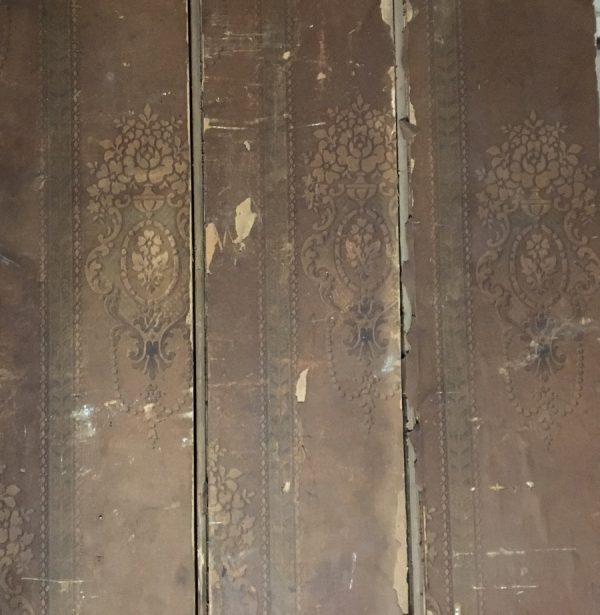 Reclaimed 160mm reed and bead with original wallpaper
