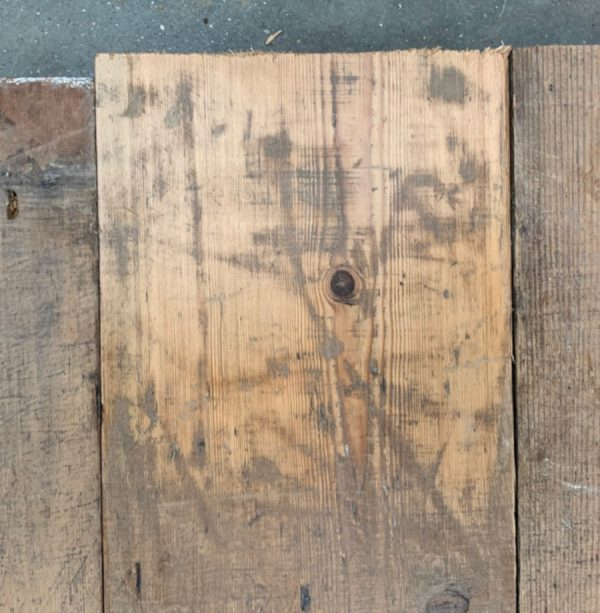 Reclaimed 135mm floorboards (lightly sanded section)