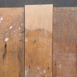 Reclaimed maple floorboards 140mm.