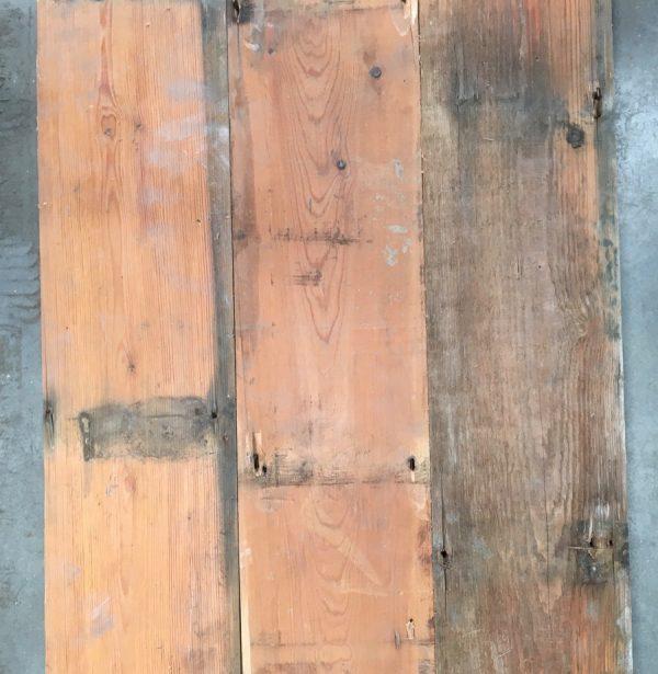 Reclaimed 152mm floorboards (rear of boards)