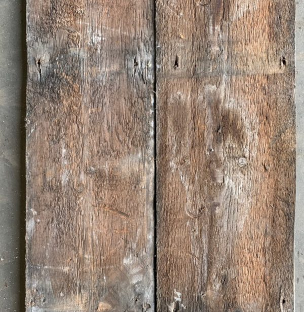 Reclaimed 215mm floorboards (rear of boards)