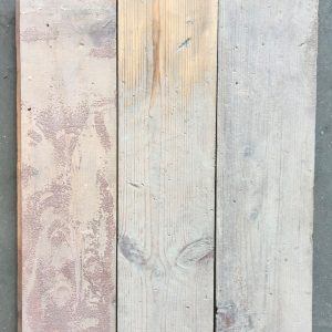 Reclaimed 115mm pine strip (lightly sanded section)