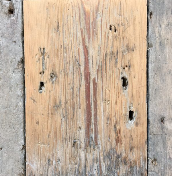Reclaimed floorboard 120mm (lightly sanded section)