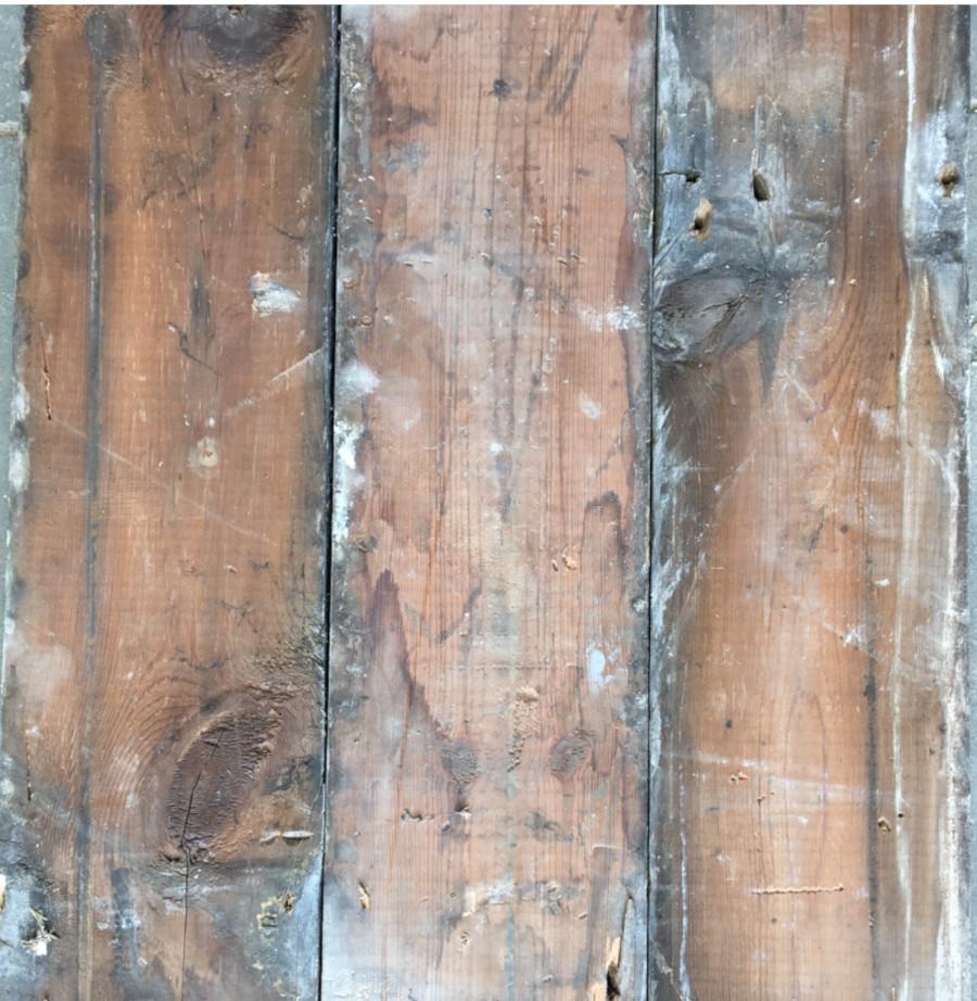 Reclaimed floorboard 120mm (rear of boards)