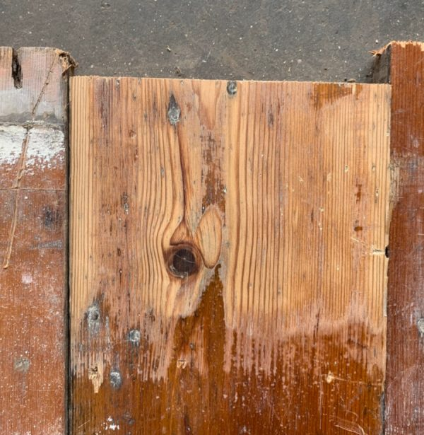 Victorian floorboards 155mm (lightly sanded section)