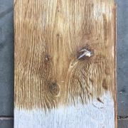 Reclaimed oak boards (lightly sanded section)