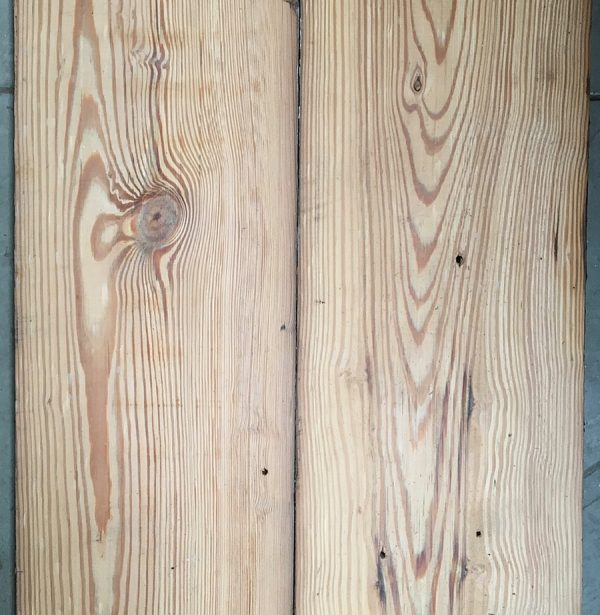 Reclaimed 270mm pitch pine floorboards