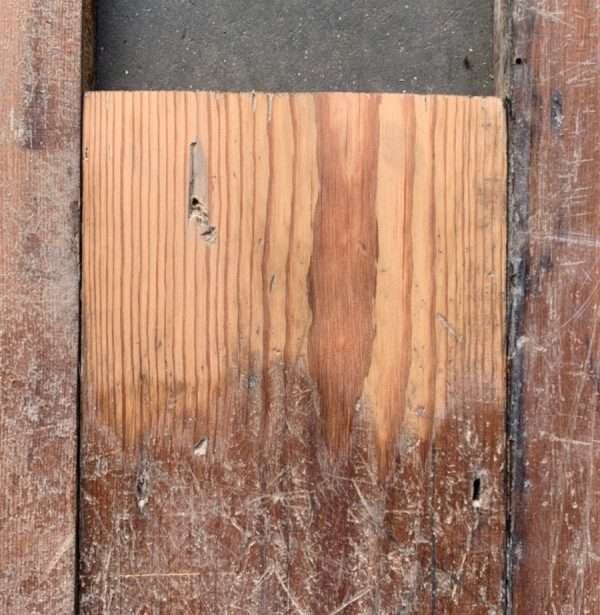 170mm Victorian floorboards (lightly sanded section)