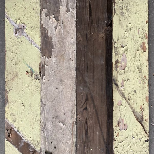 Reclaimed painted timber cladding