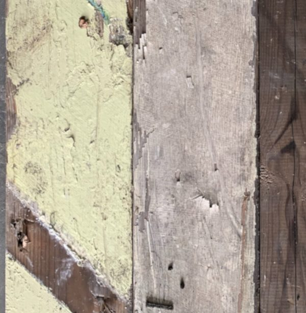 Reclaimed painted cladding